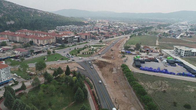 मुगला शहरी डिझाईन रस्ता टक्केवारी पूर्ण