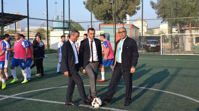 tcdd izmir region traditional football field football tournament started
