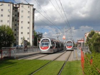 tram station turnstile advertising space tender was won by the company