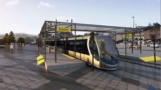 unkapani-risteys uusitaan raitiovaunuprojektin puitteissa
