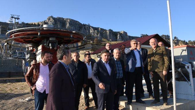 Guverner Gurel posjetio je skijalište Keltepe