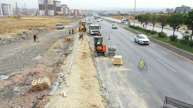 yenikent ayas road work accelerated