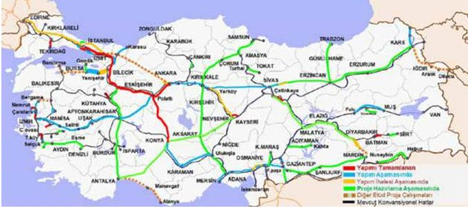 Bursa Bilecik High Speed ​​Railway Line
