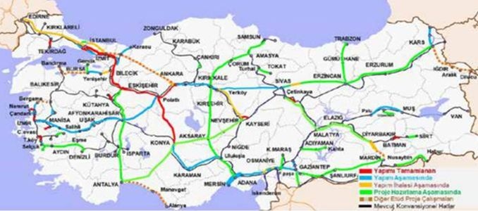 Garis Railway Mersin Adana High Speed