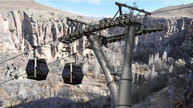 وزیر ایرسوی کا وادی احلارا میں کیبل کار پر کام ہے