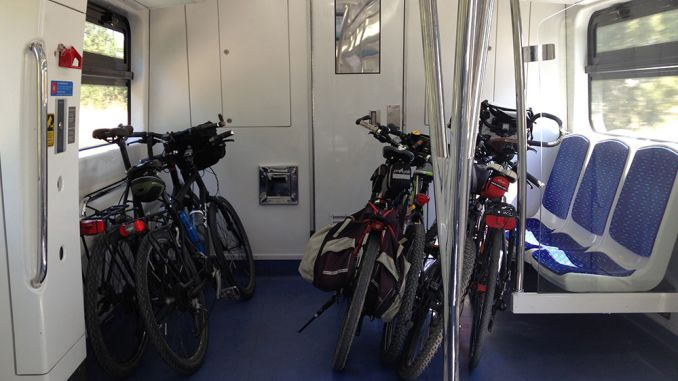 suburban trains made available for bicycle transport