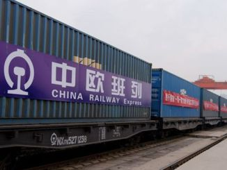 the first train to go from China to Europe in November