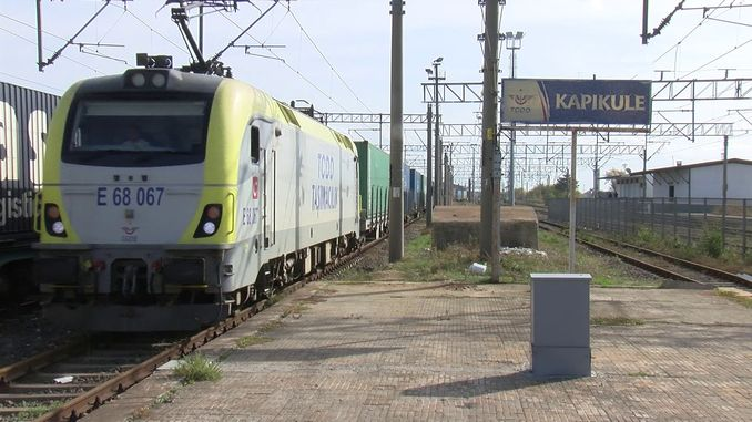 The first freight train from China to Europe departed from Changan Kapikule