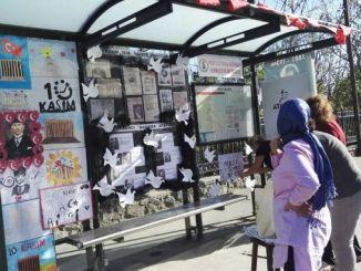 остановка автобуса в ноябре