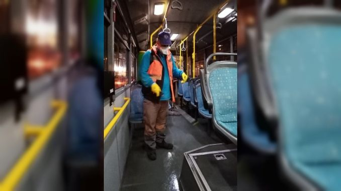 disinfection of municipal buses