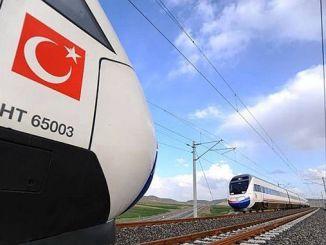 મુખ્ય હાઇ સ્પીડ રેલ લાઇન માટે ચાલુ બાંધકામ પ્રોજેક્ટો turkiyede