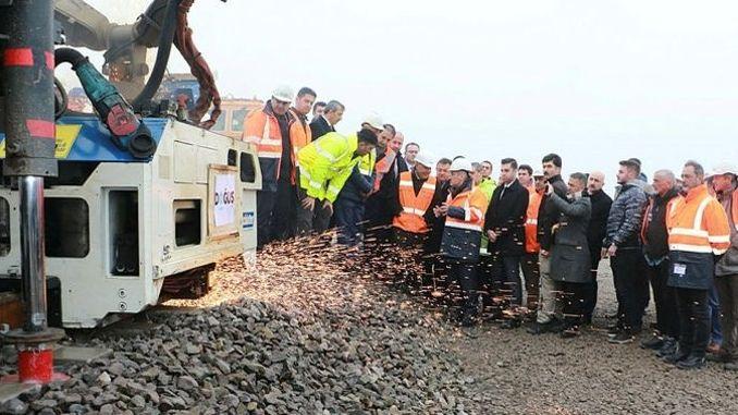 Ankara Sivas High Speed Railway Line First Rail Source Thrown