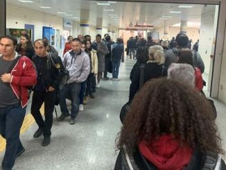security queue at ankara metro stations