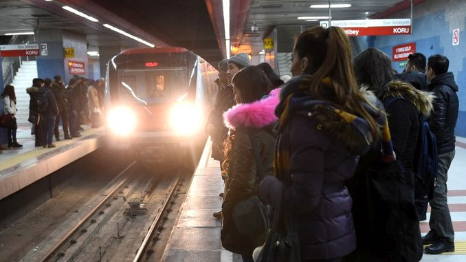 ankara metro will work until the night of New Year's Eve