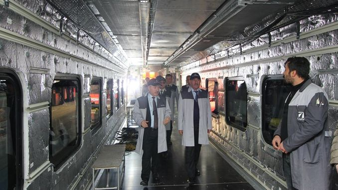 deputy minister examined demirtas manufacturing national train in progress