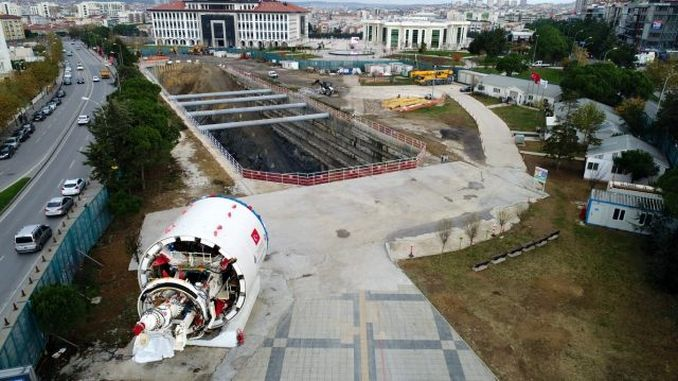 cekmekoy sultanbeyli metro operation tunnel opening machine could not be downloaded to the field