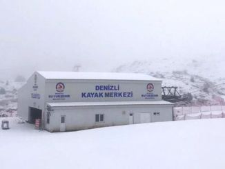 Denizli Ski Center Wrapped in White