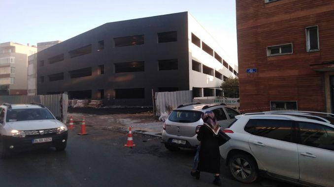 asphalt paving has started on gebze storey car park floors