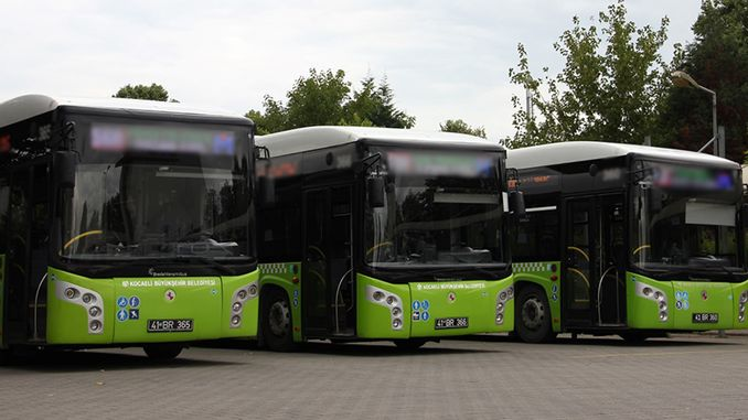 bus station starts in izmit in korukent free tram transfer