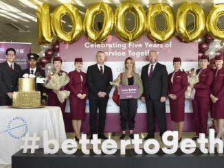sabiha gokcende qatar airways nel milionesimo passeggero