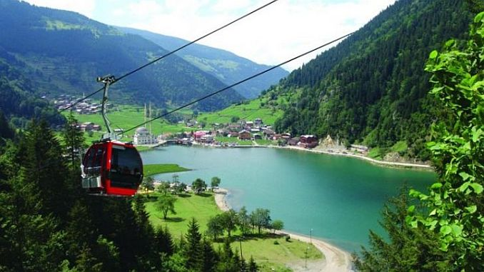 uzungol cable car comes to life