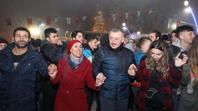 thousands of kartepe winter festival karfest and costu