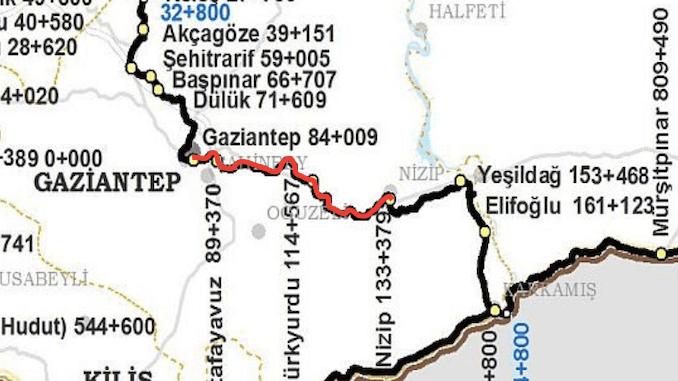 خريطة غازي عنتاب نزيب ريبوس