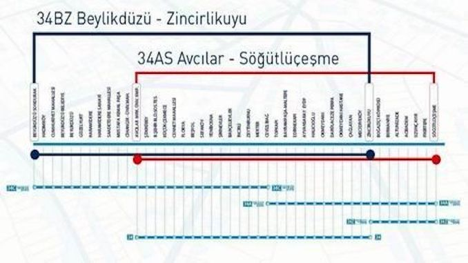 Metrobus旅行时间和Metrobus站点地图