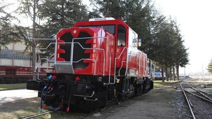 Minister Turhan used the first national diesel electric locomotive