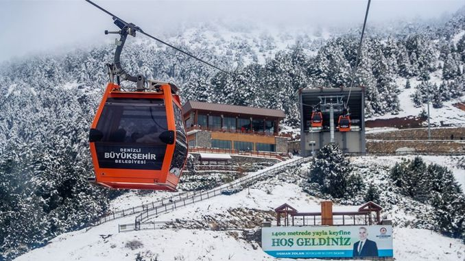 sea ​​ropeway and bagbası plateau welcomes the first day of the new year