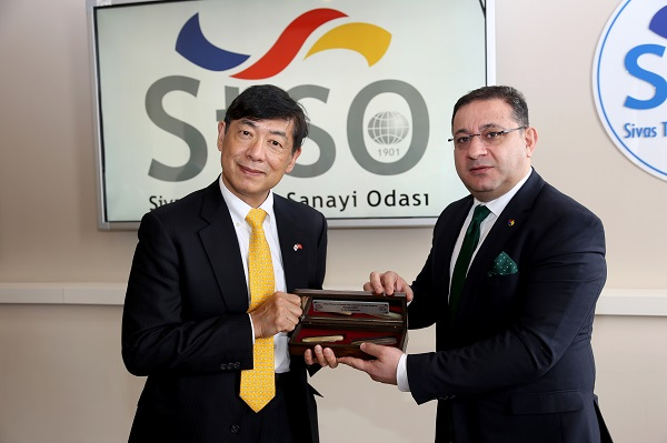 japan ambassador visited sivas chamber of commerce and industry