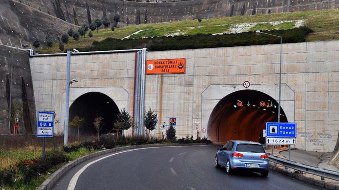 operating right of the mansion tunnel has been transferred to Izmir buyuksehire