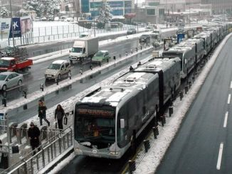 To relax the metrobus line, bus services are put into marmaray stations