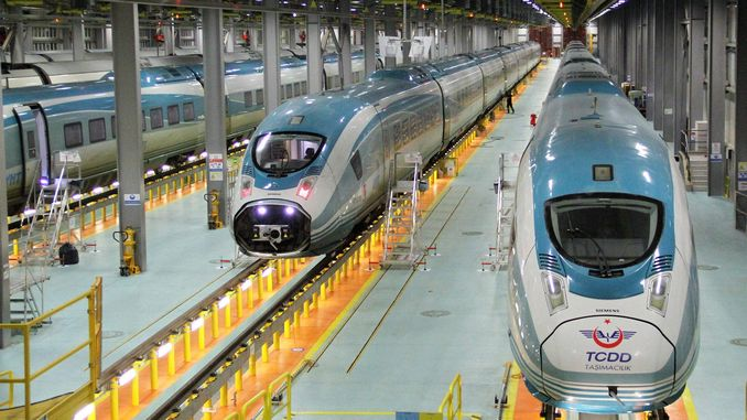 The second of the high-speed train sets produced by Siemens was received