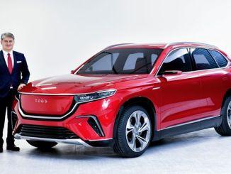 inländisches Auto in die Welt eingeführt