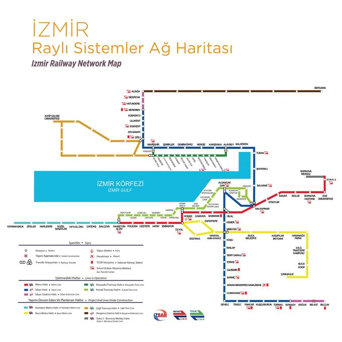 Izmir Rail Systems Network Map