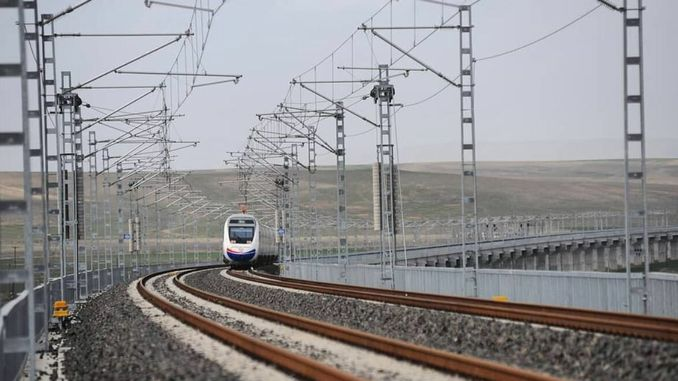 Electricity is supplied to the Completed Part of Ankara Sivas YHT Line