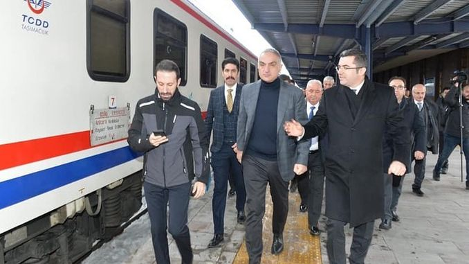 minister came to sarikamisa with ersoy east express