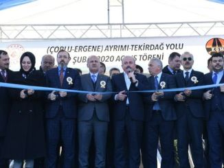 Minister of Tourism Turhan Corlu joined the highway to Tekirdag Cevre Yolu
