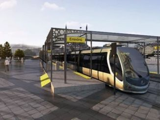 eminonu alibeykoy tram line work stopped?