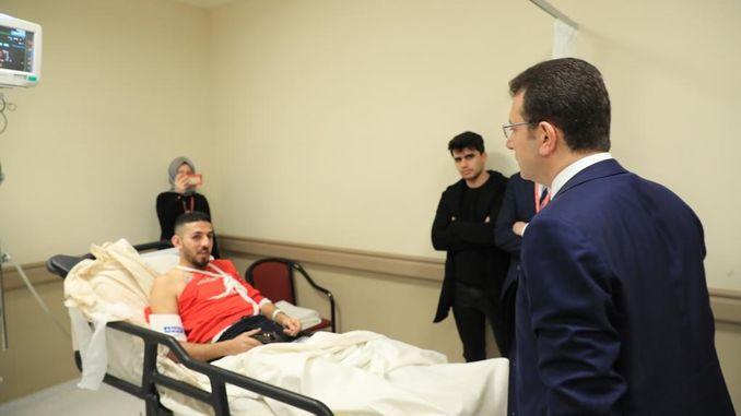 imamoglu besuchte den bei dem flugzeugabsturz verletzten