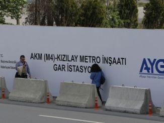 When will the kecioren kizilay subway be put into service?