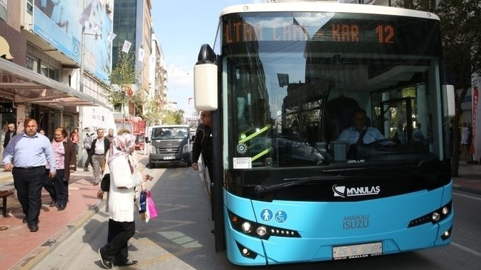 Removed the standing journey in transportation between districts in Manisa