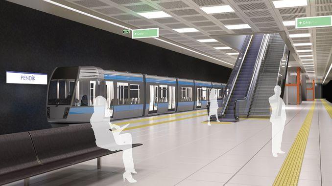 pendik kaynarca Tuzla metro line stops