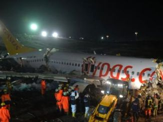 Sabiha gokcen airport was wounded from the runway.