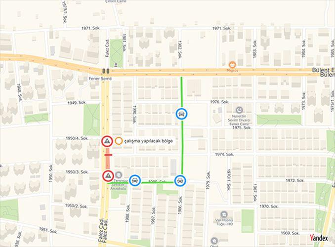 Falez Caddesi Kavşağı Gün Trafiğe Kapatılacak