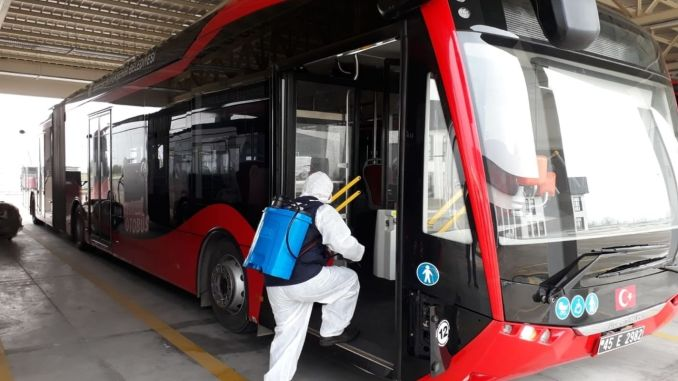 Intensive Disinfection in Public Transportation in Manisa