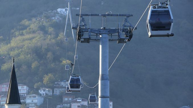 Ordu Cable Car Line is in Maintenance