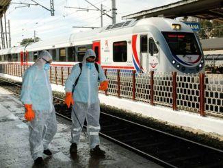 adada metro və avtobus dayanacaqlarında dezinfeksiya aparıldı