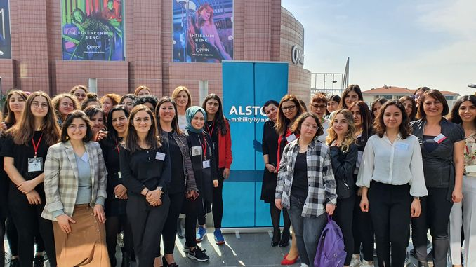 Within the scope of alstom women's day, haydarpasa vocational and technical anatolian high school hosted female students